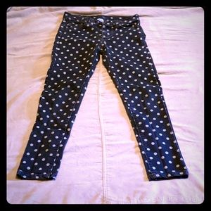 🌟Girls (Size 10) Faded Black Jeans W/Polka Dots